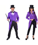 Gent's Purple Tailcoat Jacket - Joker / Show / Cabaret / Clown - $42.12