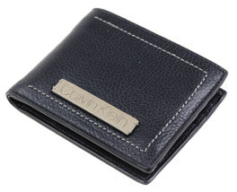 Calvin Klein Ck Men's Leather Billfold Id Wallet With Removable Card Case image 11