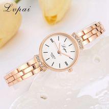 Lvpai® Women Fashion Luxury Watch Rose Gold Silver Ladies Bracelet Casual Dial image 4