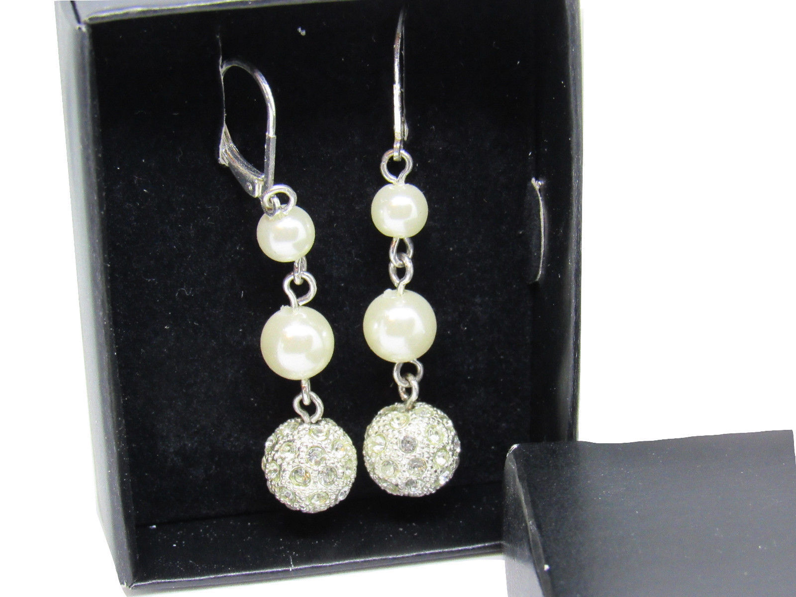 Avon 2011 President's Club Pearlesque Earrings Dangle Leverback image 5