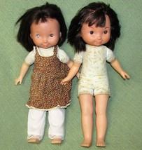 Vintage  MY FRIEND JENNY Dolls Fisher Price 1978 Heads 2 & 16 Dress BRUN... - $14.03