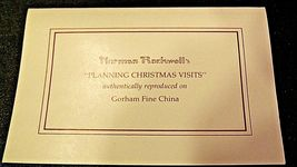 Planning Christmas by Norman Rockwell Plate with Box( Gorham ) AA20-CP2178 image 6