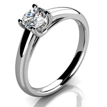 1.50Ct Round Cut Diamond 925 Sterling Silver Solid Solitaire Engagement ... - $44.93