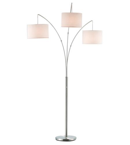 Adesso 4238-22 Trinity Floor Lamps 44in Satin Steel 3-light