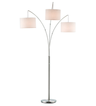 Adesso 4238-22 Trinity Floor Lamps 44in Satin Steel 3-light - $200.00