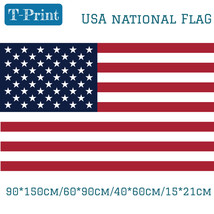 90*150cm 60*90cm 40*60cm 15*21cm 3*5 ft Hanging USA American National Fl... - $14.70