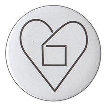 "3"" Pin-Back Button - Outside The Box Relationship Symbol, Alternative, L... - $14.99"