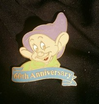Disney Dopey Pin Snow White & the Seven Dwarfs 60th Anniversary WDCC 1997 - $12.86