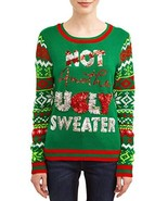 No Boundaries Women's Juniors' Christmas Sweater (Green Not Another Ugly Sweater - $29.54