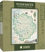 Yosemite Map 1000 pc Jigsaw Puzzle by Masterpieces Puzzles Co - $39.99