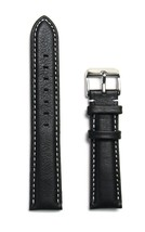 Men's Genuine Leather Replacement Watch Band 22mm Black Calfskin Wristwatch Stra - $19.63