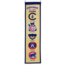 Chicago Cubs Licensed 8x32 Embroidered Wool Heritage MLB Fan Favorites B... - $29.95