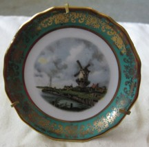 Miniature plate windmill Limoges France - $12.00