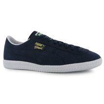 Puma Brasil Suede Trainers Navy Size 7 UK Sneaker Shoes Canvas Original ... - $52.20