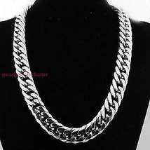 1000 Gram Heavy Pure 925 Sterling Silver Chain Miami Cuban Curb Link Rho... - $1,950.00