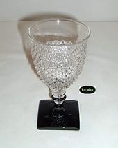 Westmoreland English Hobnail Crystal w/ Black Foot 6 in. Water Stem - $6.95