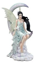 """Ebros Large Celestial Crescent Moon Air Wind Elemental Fairy Statue 10.5"""" H by N - $63.99"""
