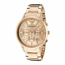 Emporio Armani AR2452 Sport Rose Gold Chronograph Womens Watch - $197.35 CAD