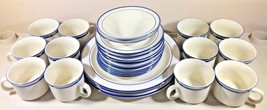 Elegance II Collection Mariner Blue Stoneware - 27 Pcs Near Mint - $77.21