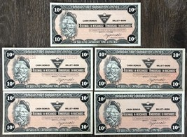 Lot of 5x 1985 Canadian Tire 10 Cents Notes ***Great Condition*** CTC-S6-C - $5.95
