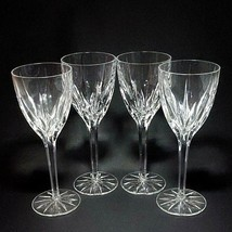"4 (Four) MIKASA APOLLO Cut Lead Crystal Water Goblets Glasses 8.25"" T DI... - $68.99"