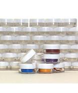 Lip Balm Containers Cosmetic Makeup Sample Jars 3 Gram White Lids 50 pcs... - $24.95