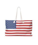 American Flag 4th of July / Memorial Day Oversized Weekender / Beach Bag - $54.95