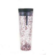 Starbucks Confetti Red Stars Balls Glitter Acrylic Travel Tumbler Cup 16oz Badge - $41.58