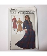 Simplicity 7040 Size 12 14 16 Misses' Miss Petite Dress Buttondown - $11.64