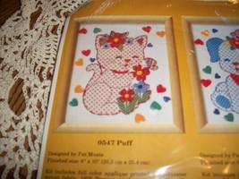 The Creative Circle Kit 0547~Puff Kitty Embroidery Kit - $14.00
