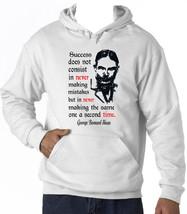 George Bernard Shaw Success - New Cotton White Hoodie - $39.44