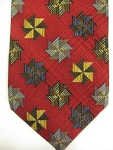 GORGEOUS Jhane Barnes Red With Amazing Crosses Japan Silk Tie - $37.49