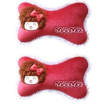 Set of 2 Female Favourite Car Neck pillow/Dog Bone neck pillow,(Mocmoc)RED
