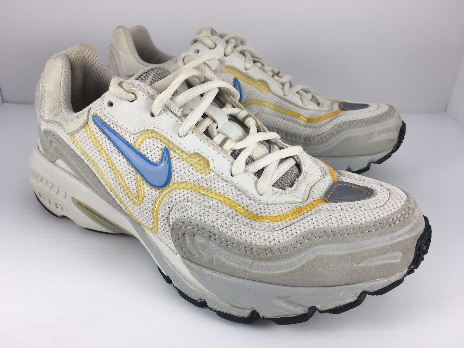 NIKE Air BRS 1000 Women US 6.5 White + Gray Athletic Trainers Running Shoes J23