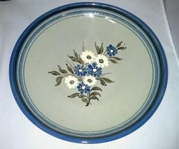 Knabstrup Denmark Mid Century Modern Hand Painted Large Bowl Blue White ... - $24.99