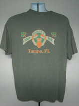 Mens O'Briens Irish Pub Tampa Florida t shirt XL clovers claddagh 50/50 - $21.73