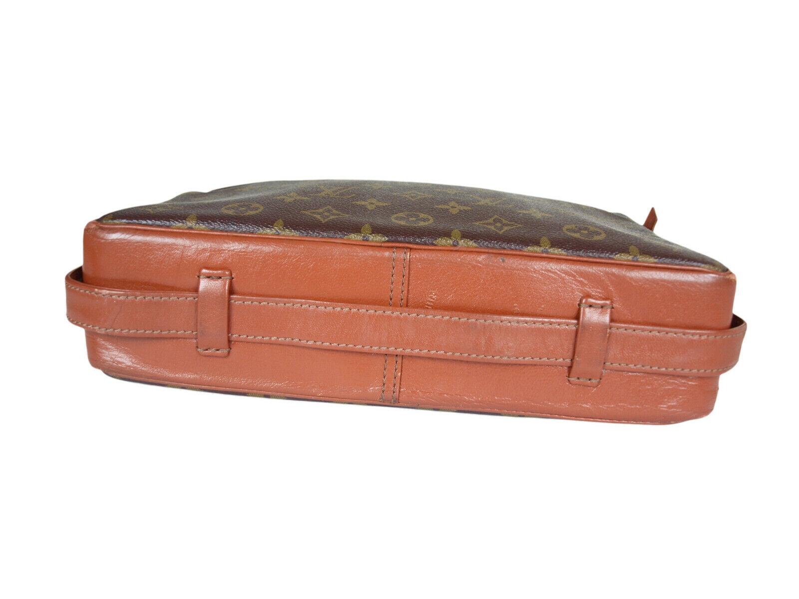 Auth LOUIS VUITTON Sac Bandouliere Monogram Canvas Cross-Body Shoulder Bag