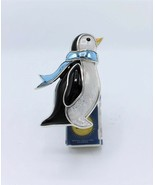Bath Body Works Christmas Penguin Scarf Wallflower Diffuser Plug Night Light - $13.99