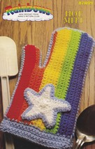 Rainbow Hot Mitt, Annie's Attic Crochet Pattern Leaflet 87R09 - $1.95