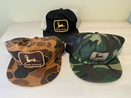Vtg John Deere Trucker Hat LOT - Patch K Products Louisville Mfg Camo Mesh - $791.99