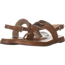 Cole Haan Ainslee Grand Slingback Flat Sandals 759, Pecan/Rose Gold, 8 US - $33.59