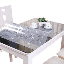 VALLEY TREE 1.5mm Floral Table Cover Protector PVC Desk Pad Soft Glass D... - $73.75