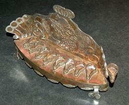 Judaica Oil Menorah Hanukkah Vintage Israel Silver Copper 7 Seven Species 1960's image 7