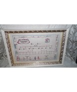 VINTAGE THE WOODMOUSE FAMILY TREE IN WOOD FRAME BRASS DETAILS FRANKLIN M... - $34.60