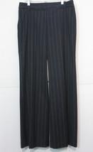 Ann Taylor LOFT Marisa Pants Size 4 Black Blue Beige Pinstriped - $23.38