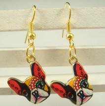Canine Fiesta Face Earrings # 12013 >> Combined Shipping Available - $3.75