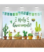 Mehofoto Holy Guacamole Backdrop Fiesta Cactus Baby Shower Photography B... - $18.73