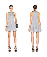 T by Alexander Wang Grey Pleated Scuba-neoprene Mini Dress Size S M BNWT - $150.43