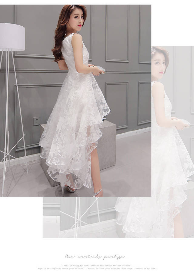 High low party Dress  at Bling Brides Bouquet online bridal store image 2