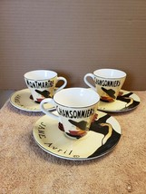 3 Sango Cabaret Tea Cups and Saucers #4870 - $24.75
